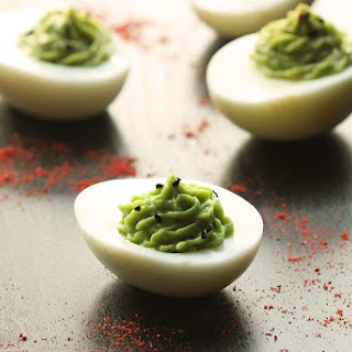 Chipotle Guacamole Deviled Eggs - The Egg-straordinary Easter Snack.