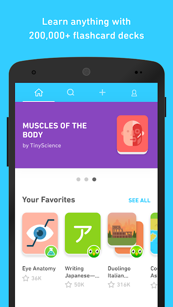 Tinycards by Duolingo: Fun & Free Flashcards Android App Screenshot