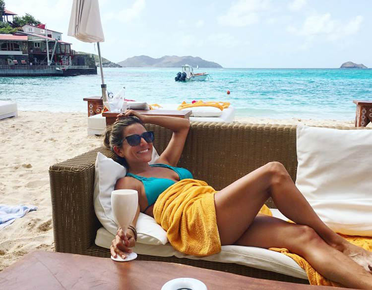 The author relaxes in St. Barts. Spend your day on the beach, at poolside or in some of the island's many boutique shops.