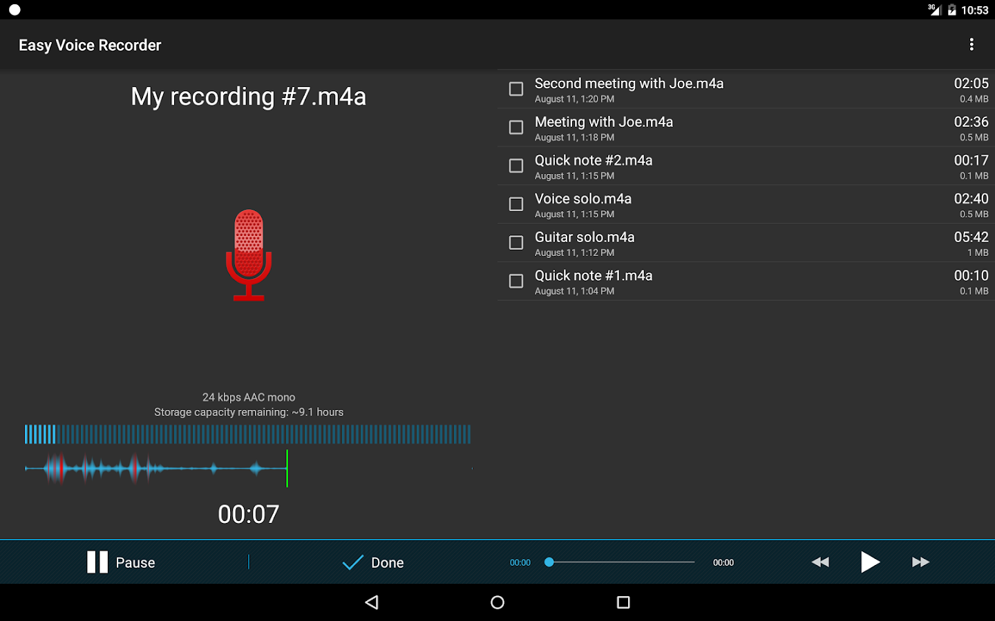 Easy Voice Recorder- screenshot