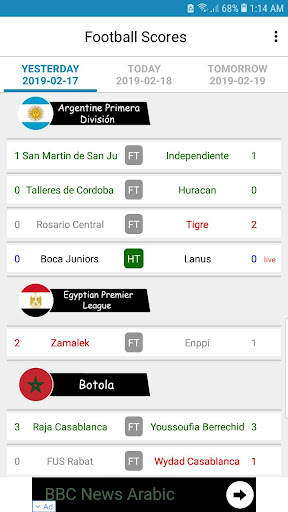 Live Football Scores 3.1.7 screenshots 2