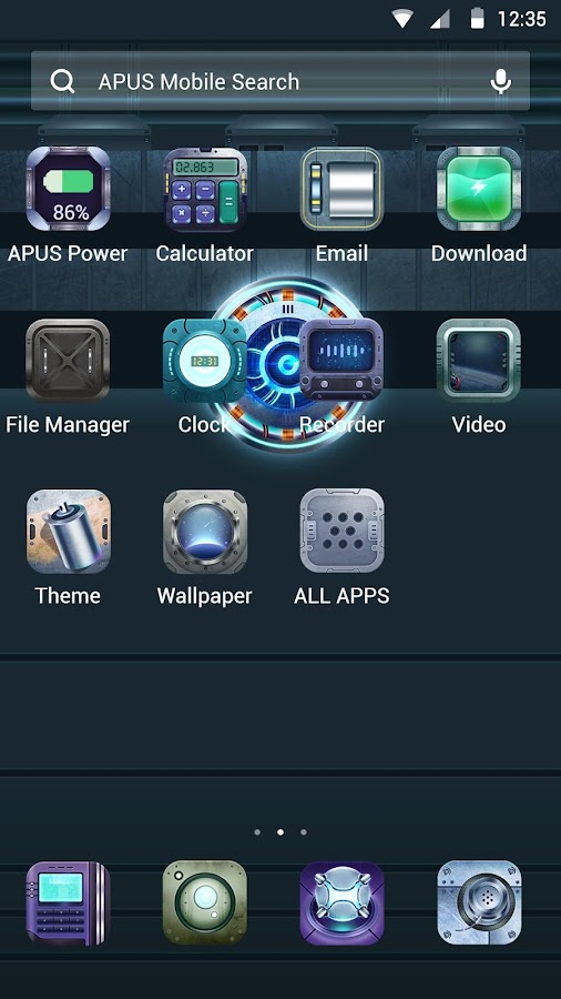 Planet-APUS Launcher theme- screenshot