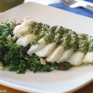 Baked Cod with Dill & Brazil Nut Pesto