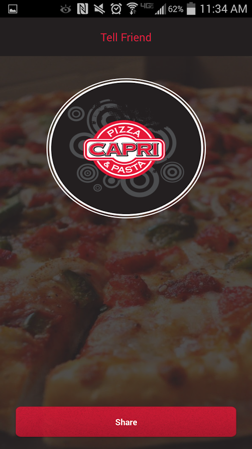 Capri Pizza- screenshot