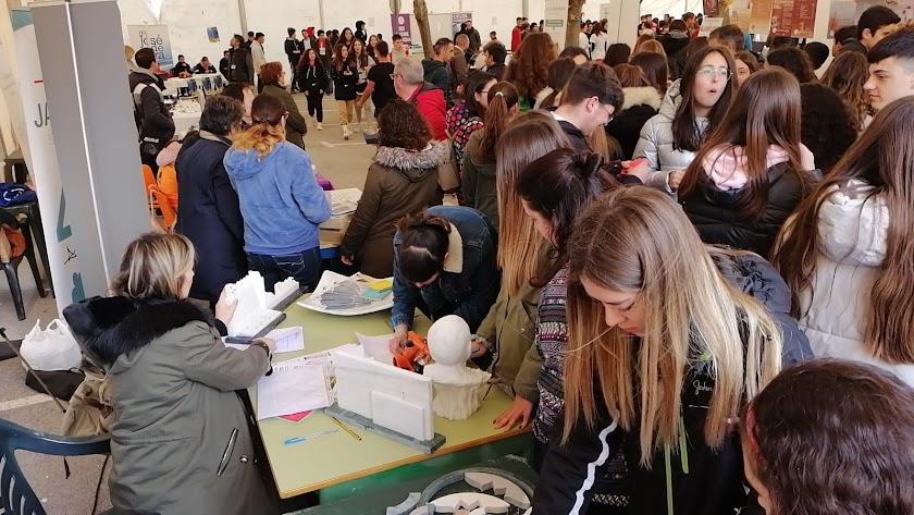 La Escuela de Mármol de fines en la Feria de Formación Profesional de Baza 2020 celebrada esta semana.