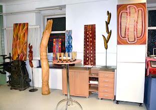 Photo: JAIME CARVAJAL - Holz in Bild und Skulptur. Vernissage am 20.2.2015. Foto: Barbara Zeininger