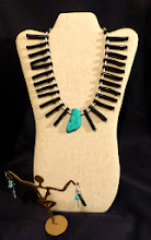 Photo: # 142 - turquoise, bamboo coral, silver plate $60/set SOLD