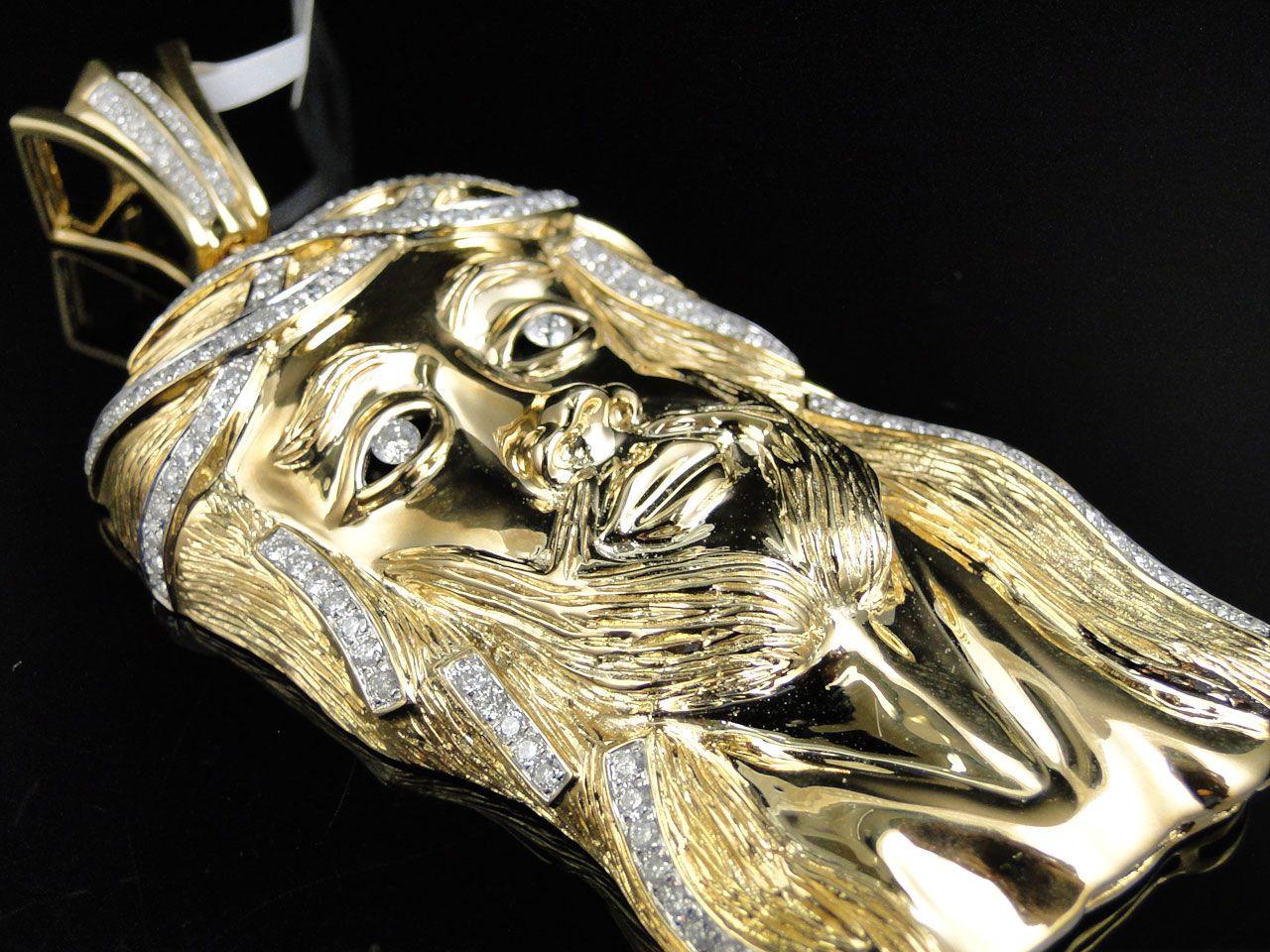 Gold Jesus Pendants