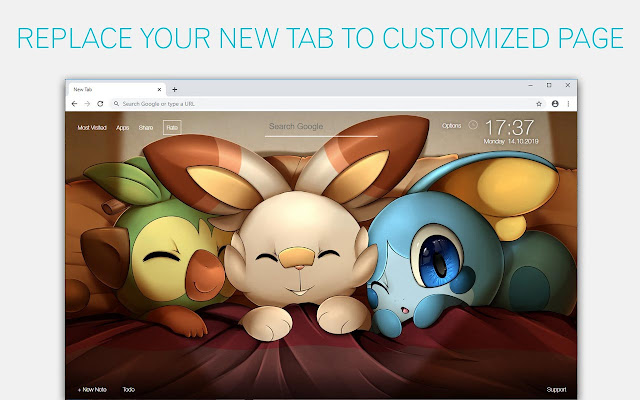 Pokemon Sword and Shield Custom New Tab