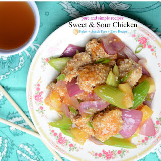 Sweet and Sour Chicken (paleo, starch free)