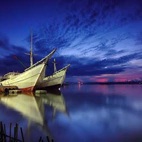 by Imansyah Putra - Transportation Boats ( billiton, harbour, reflections, morning )