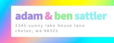 Adam & Ben - Address Label template