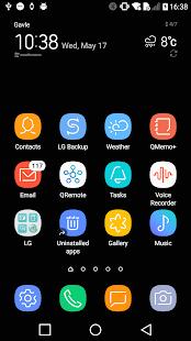 Dream UI High Contrast Theme for LG G6 G5 V30 V20 - náhled