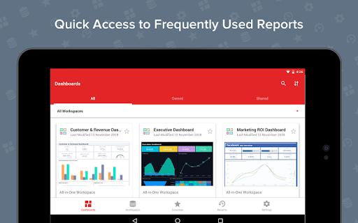 Zoho Analytics – Mobile BI Dashboards screenshot 11