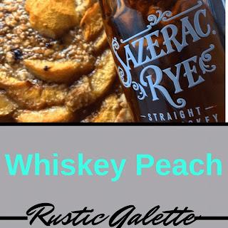 Rustic Whiskey Peach Galette.