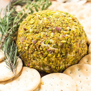 Pistachio-Crusted Vegan Cheese Ball