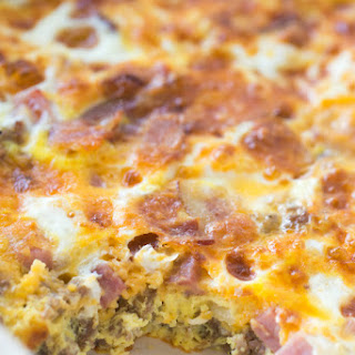 Meat Lovers Baked Omelet.