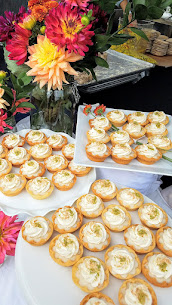 Annie Portlock of Annie Pies offered 3 mini pies at Feast PDX 2016 Go Get You Some Picnic: here are the Honey Lime Coconut (honey shortbread, honey lime coconut cream, whip, toasted coconut, lime zest