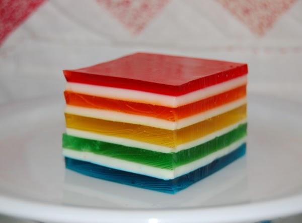 Hawaiian Rainbow Jello Recipe