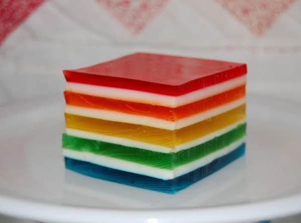 Hawaiian Rainbow Jello