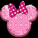 Minny Cute Pink Bowknot Keyboard Theme icon