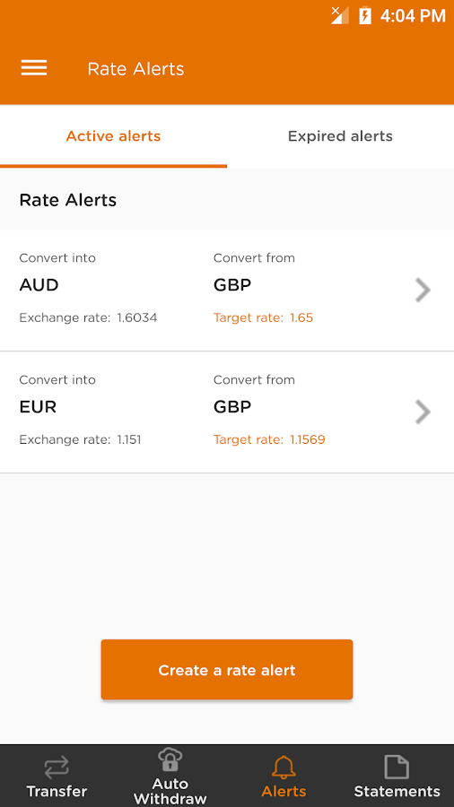 Currencies Direct for Sellers- screenshot