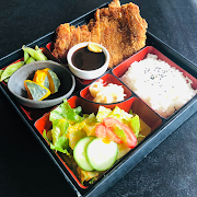 Miso katsu Bento (Breaded pork tenderloin)