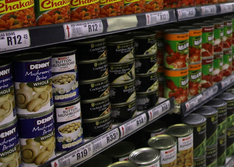 Denny Mushrooms, which Libstar produces, seen on a supermarket shelf. Picture: KEVIN SUTHERLAND/SUNDAY TIMES
