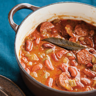 Spicy Red Bean and Chorizo Stew.