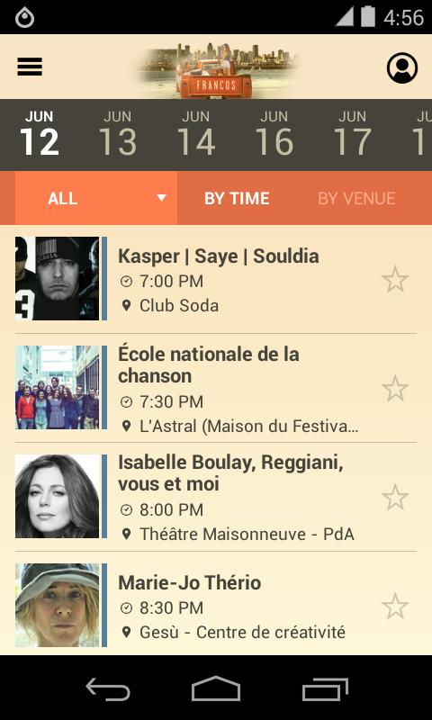 FrancoFolies de Montréal 2015 - screenshot