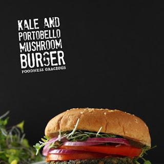 Healthy Kale and Portobello Veggie Burger