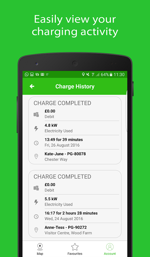 POD Point Open Charge- screenshot