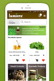 Lumiere -Shop organic products- screenshot thumbnail