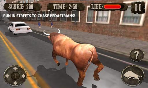 疯狂的愤怒的公牛复仇3D