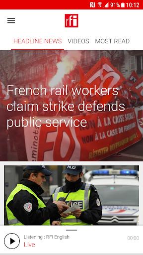 RFI - Radio France Internationale,  live news 3.3.9 Screenshots 1
