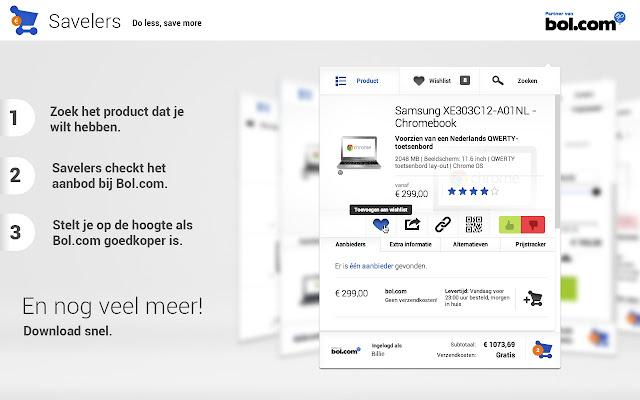 Savelers - App voor Bol.com