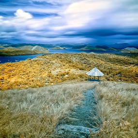 The Gazebo by Hiram Abanil - Landscapes Mountains & Hills ( coron, mt tapyas )