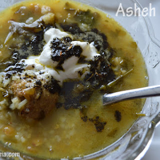 Asheh Mast- Persian soup