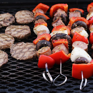 Sausage Kabobs with Peppers & Onions