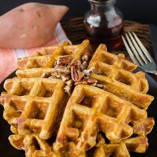 Whole Wheat Sweet Potato Waffles.