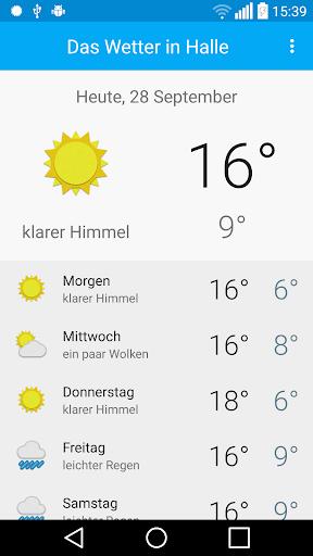 Das Wetter in Halle