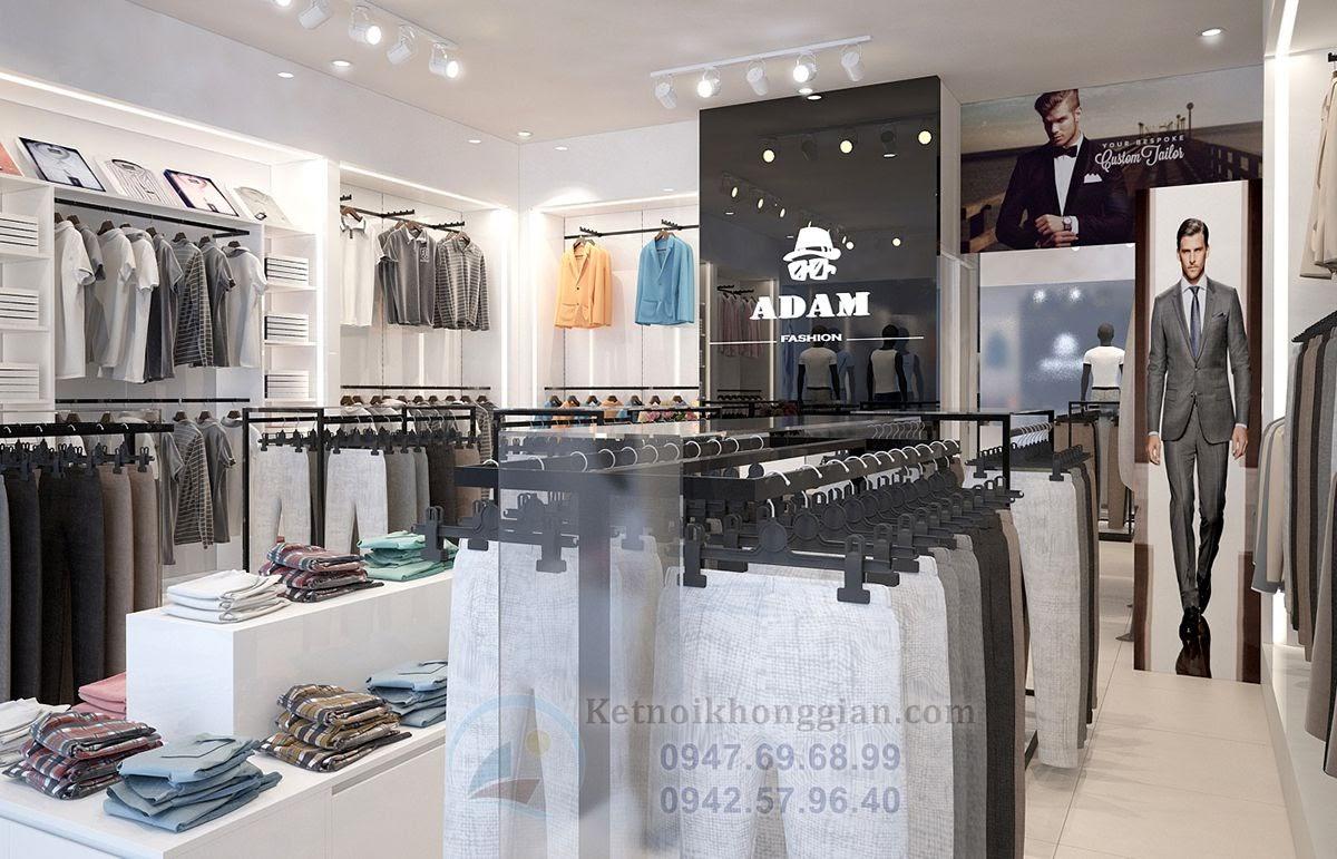 thiết kế shop thời trang nam cao cấp