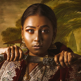 Power Diva by Debarghya Mukherjee - Digital Art People ( art, woman, paint, india, girl, cultural heritage, digital art, digital photography, debarghya mukherjee, culture, digital painting, retouch, photography )