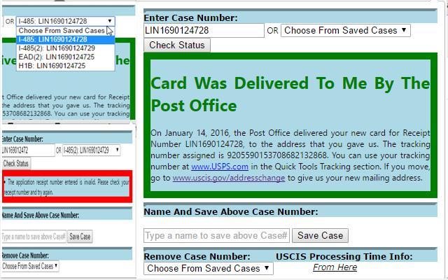 Uscis Case Status Checker Chrome Web Store