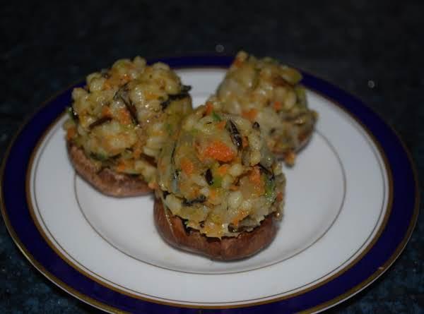 Wild Rice And Barley Stuffed Mushrooms