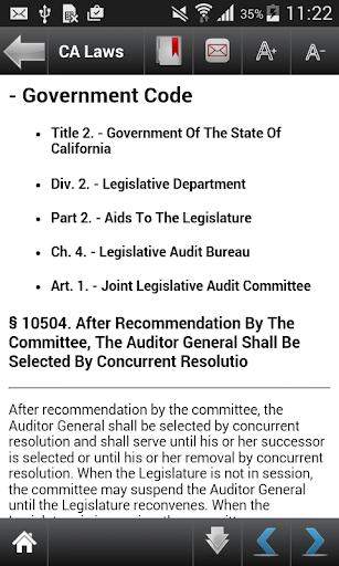 CA Laws 2018 (California Laws and Codes)  screenshots 7