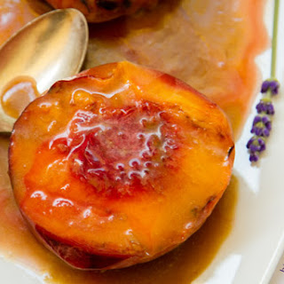 Grilled Peaches with Cointreau Caramel Sauce