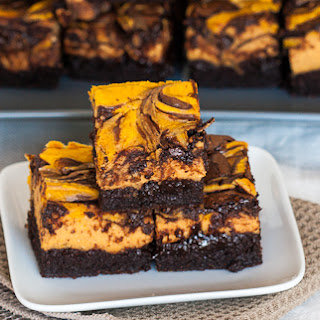 Chocolate Pumpkin Cheesecake Brownies.