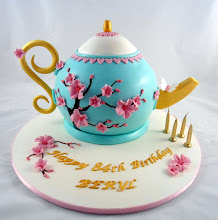 Photo: Cherry Blossom Teapot by Little Acre Cake Maker (9/18/2012) View cake details here: http://cakesdecor.com/cakes/29342