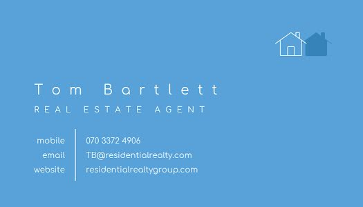 Bartlett Real Estate - Business Card Template